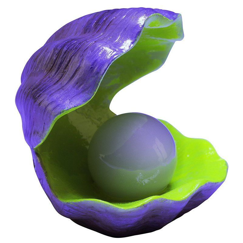 Glofish Color Changing Clam Ornament
