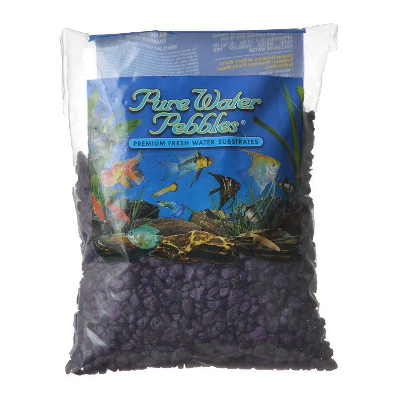 Pure Water Pebbles Aquarium Gravel - Purple Passion