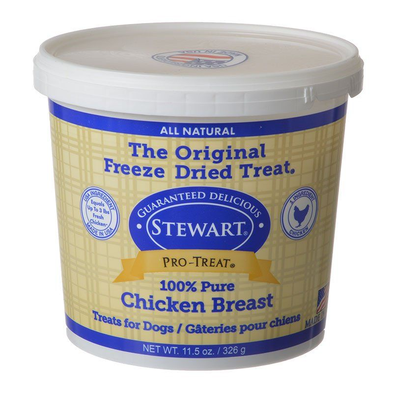 Stewart Pro-Treat 100% Freeze Dried Chicken Breast for Dogs