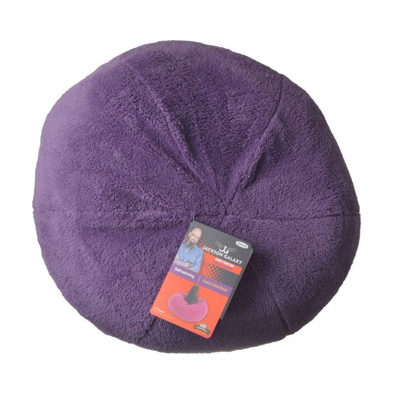 Petmate Jackson Galaxy Comfy Dumpling Self-Warming Cat Bed - Purple