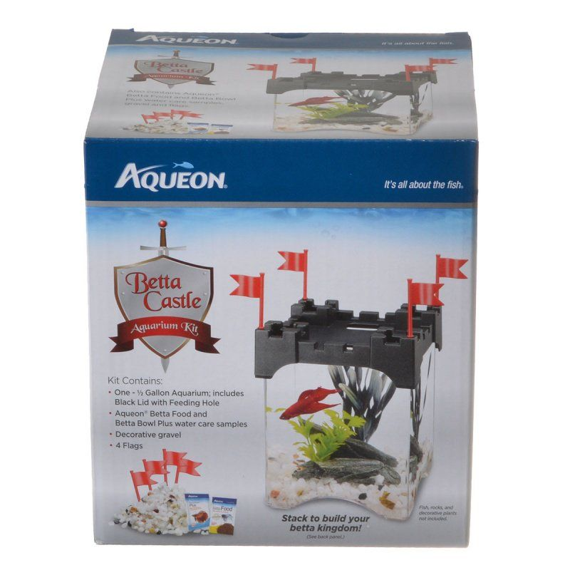 Aqueon Betta Castle Aquarium Kit - Black