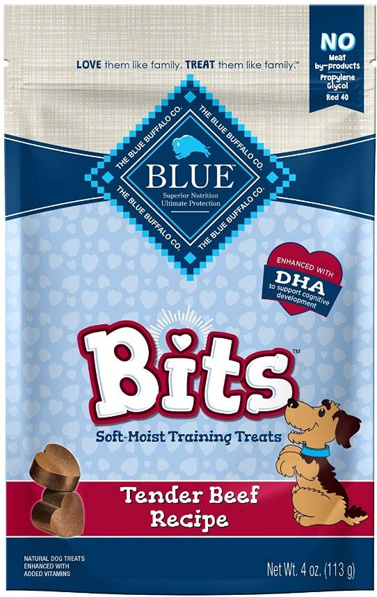 Blue Buffalo Blue Bits Soft-Moist Training Treats Tender Beef Recipe