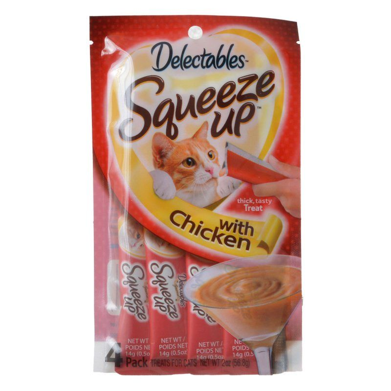 Hartz Delectables Squeeze Up Cat Treat - Chicken