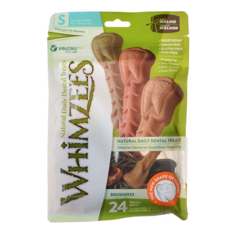 Whimzees Brushzees Dental Treats - Small