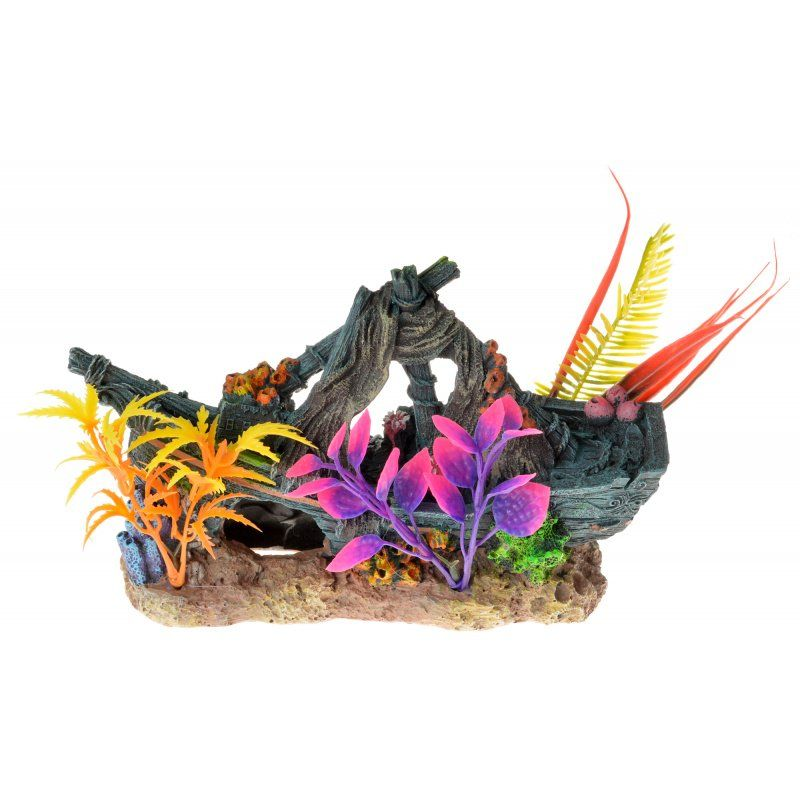Exotic Environments Sunken Ship Floral Ornament