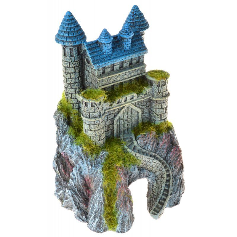 Exotic Environments Mountain Top Castle with Moss