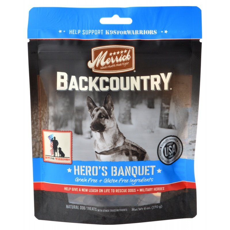 Merrick Backcountry Hero's Banquet Dog Treats