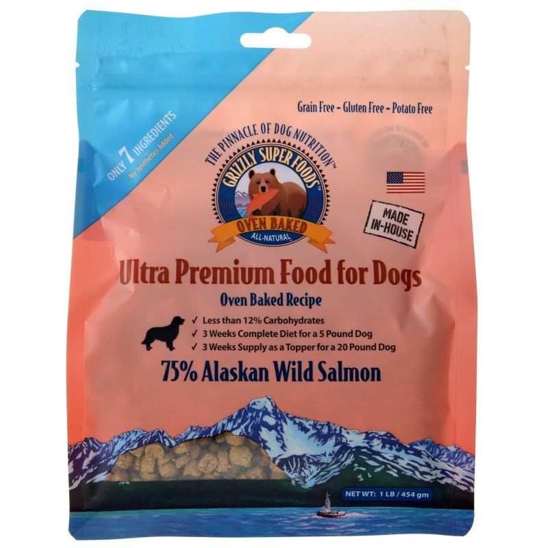 Grizzly Super Foods Oven Baked Alaskan Wild Salmon for Dogs