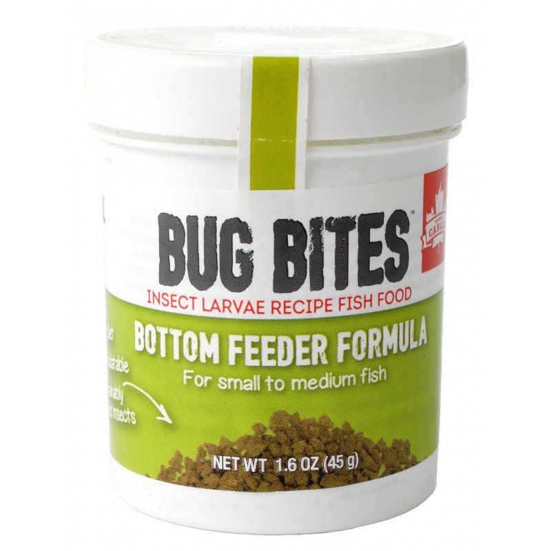 Fluval Bug Bites Bottom Feeder Formula Granules for Small-Medium Fish