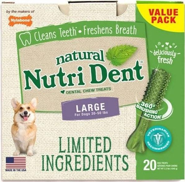 Nylabone Natural Nutri Dent Fresh Breath Dental Chews - Limited Ingredients