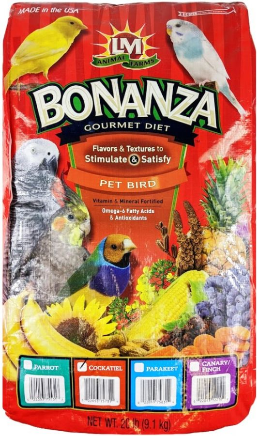 LM Animal Farms Bonanza Cockatiel Gourmet Diet