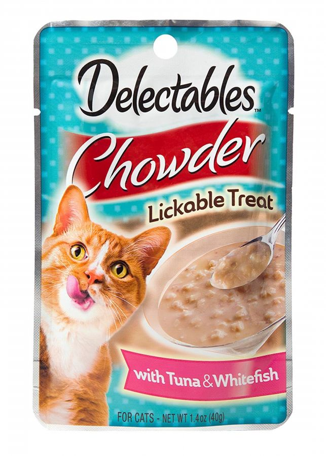 Hartz Delectables Chowder Cat Treat - Tuna & Whitefish