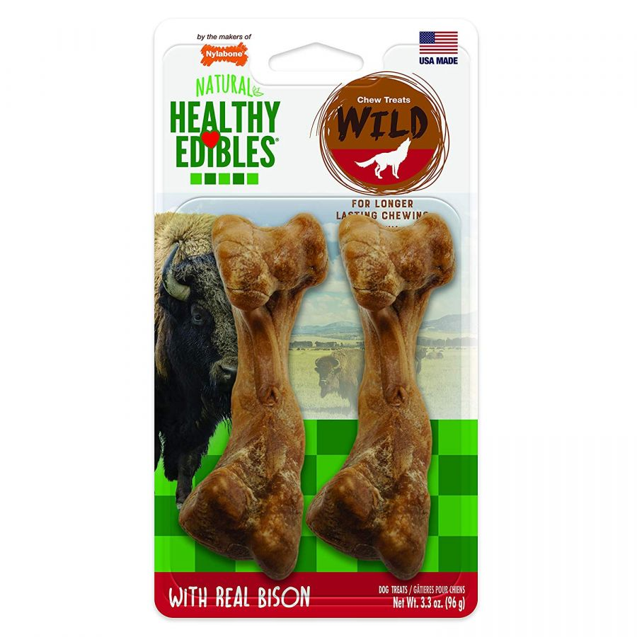 Nylabone Natural Healthy Edibles Wild Bison Chew Treats