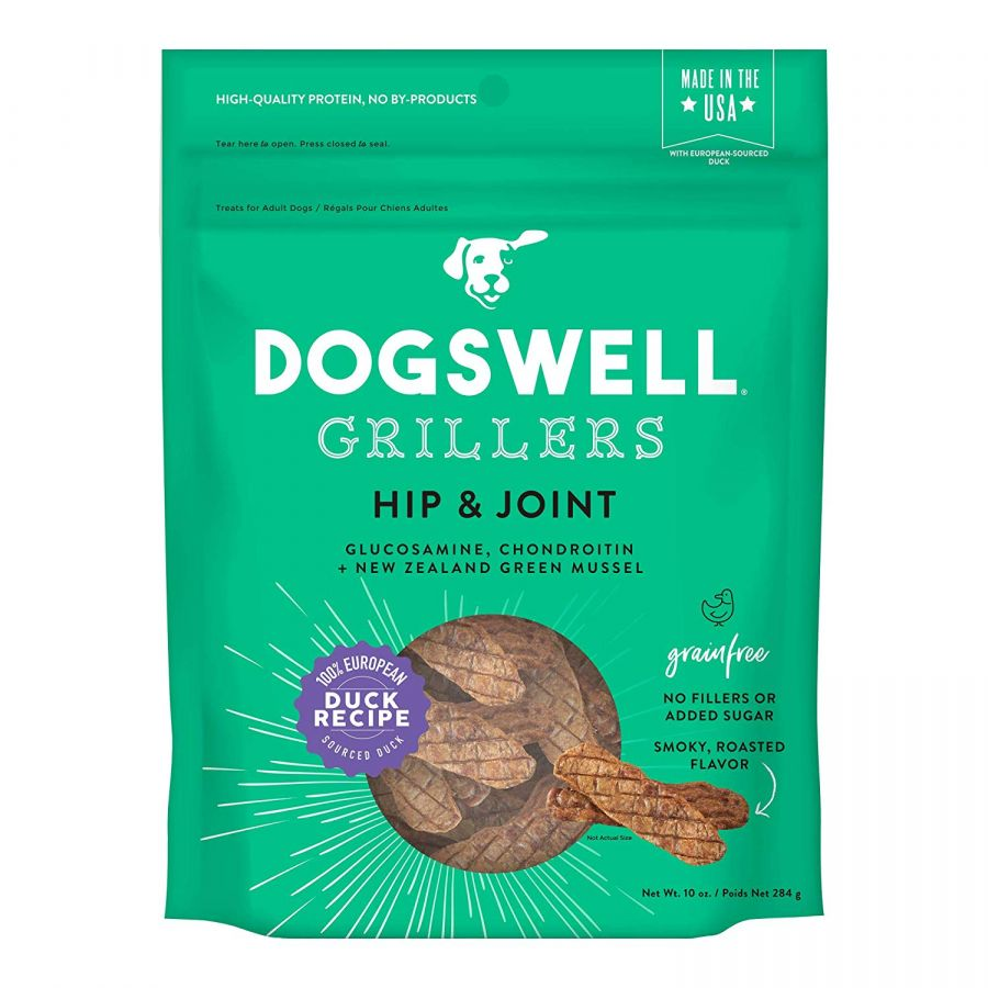 Dogswell Grillers Hip & Joint Dog Treats - Duck