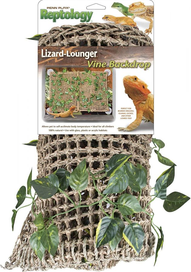 Penn Plax Reptology Lizard-Lounger Vine Backdrop