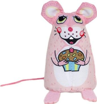 Fuzzu Cupcake Mouse Cat Toy