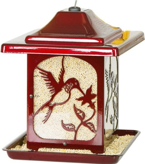 Homestead Hummingbird Bird Feeder Red