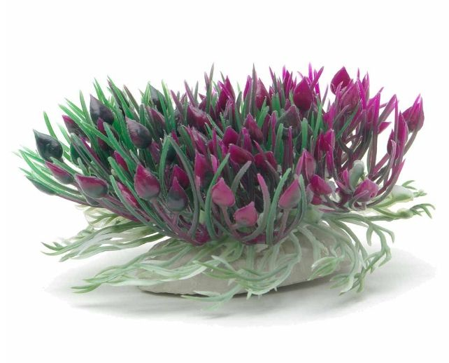Marina Betta Purple Hearts Shrub Aquatic Plastic Plant
