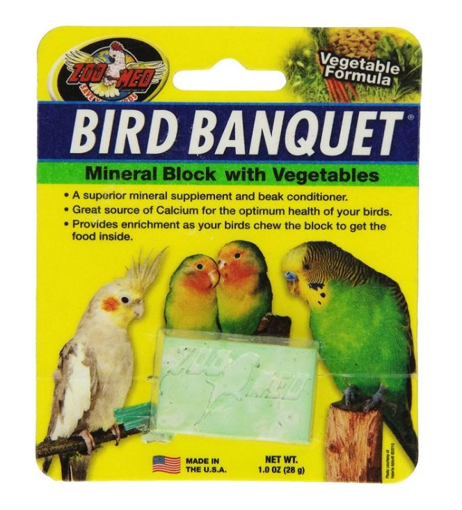 Zoo Med Bird Banquet Vegetable Block