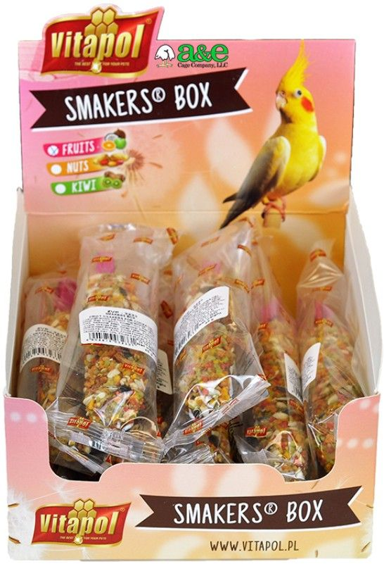 A&E Cage Company Smakers Cockatiel Fruit Treat Sticks
