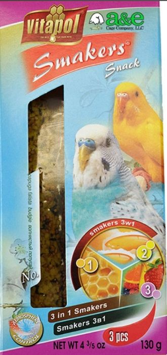 A&E Cage Company Smakers Parakeet Variety Treat Sticks
