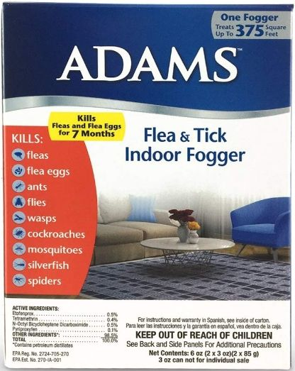 Adams Flea and Tick Indoor Fogger 3 oz