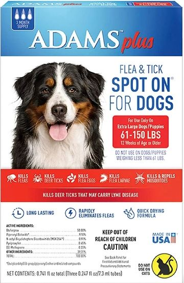 Adams Plus Flea and Tick Spot On for X-Large Dogs 61-150 lbs