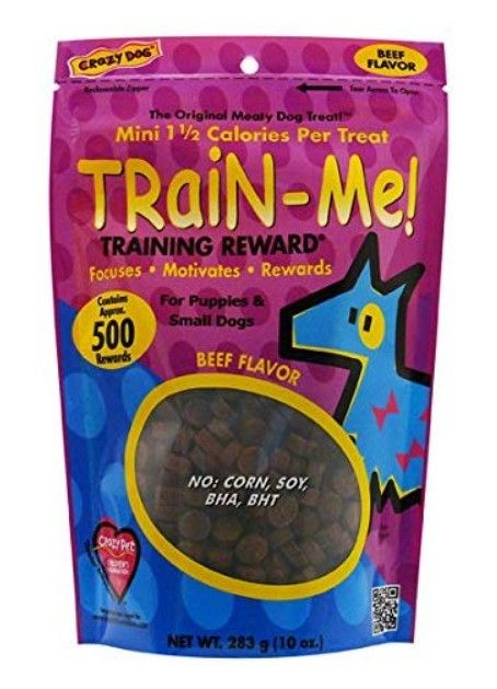 Crazy Dog Train Me! Beef Training Reward Treats - Mini