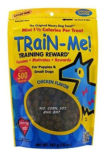 Crazy Dog Train Me! Chicken Training Reward Treats - Mini