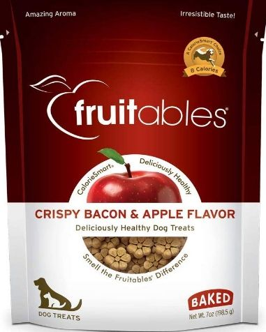 Fruitables Crispy Bacon & Apple Flavor Crunchy Dog Treats