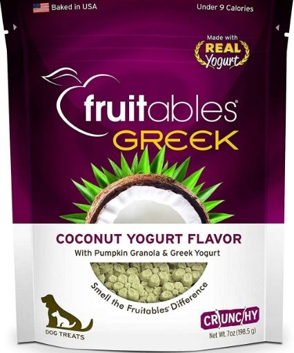 Fruitables Greek Coconut Yogurt Flavor Crunchy Dog Treats