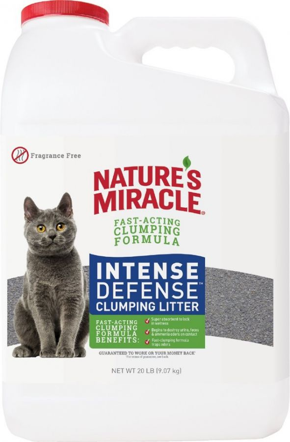 Natures Miracle Intense Defense Fragrance-Free Clumping Cat Litter