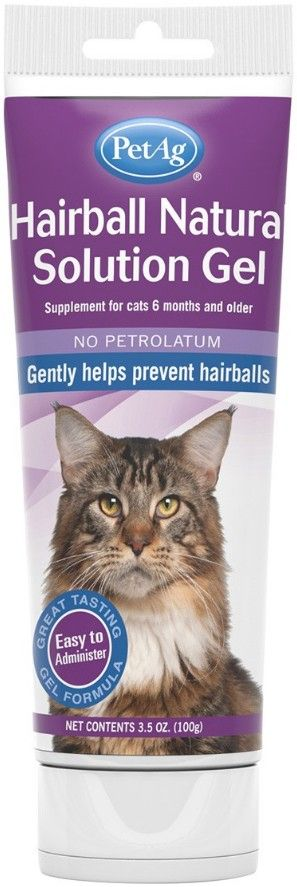PetAg Hairball Natural Solution Gel for Cats