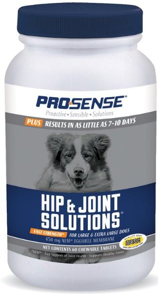 Pro-Sense Plus Fast Strength Hip & Joint Solutions Eggshell Membrane Chews for Large Dogs