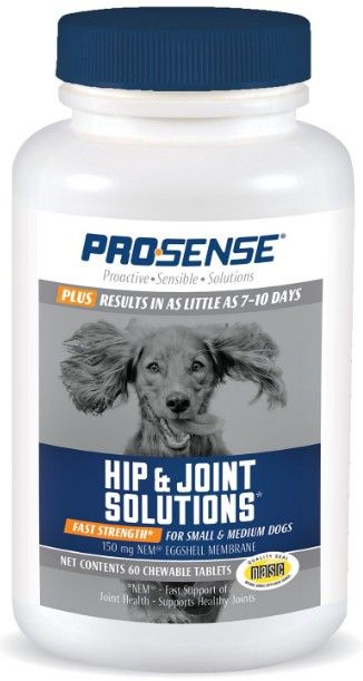 Pro-Sense Plus Fast Strength Hip & Joint Solutions Eggshell Membrane Chews for Small & Medium Dogs