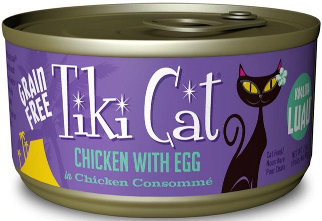 Tiki Cat Chicken With Egg Cat Food 2.8 oz can
