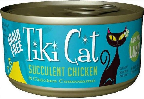 Tiki Cat Succulent chicken Cat Food 2.8 oz can