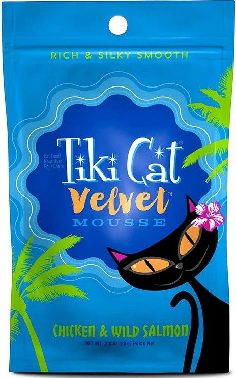 Tiki Cat Velvet Mousse Chicken & Wild Salmon Cat Food 2.8 oz can
