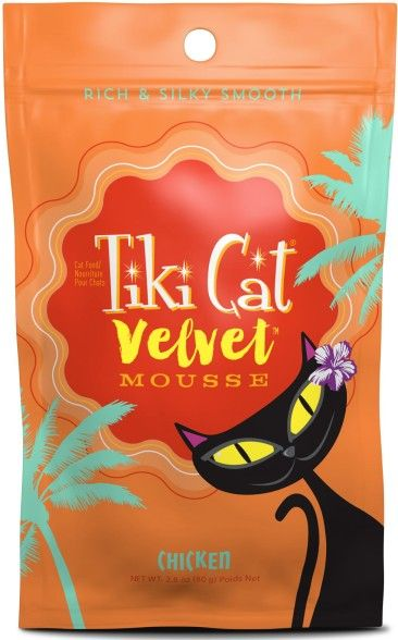 Tiki Cat Velvet Mousse Chicken Cat Food 2.8 oz can