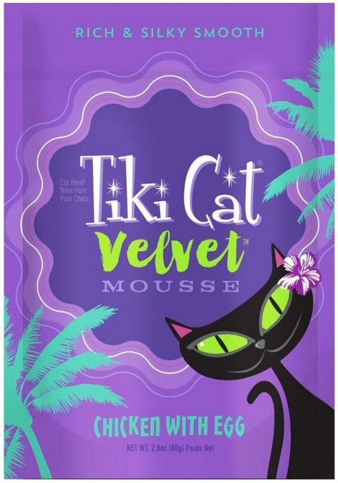 Tiki Cat Velvet Mousse Chicken With Egg Cat Food 2.8 oz can