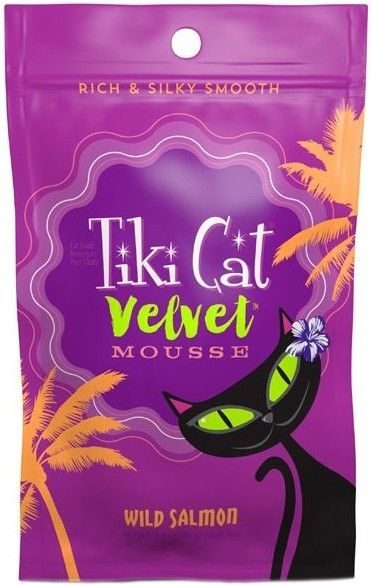 Tiki Cat Velvet Mousse Wild Salmon Cat Food 2.8 oz can