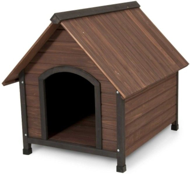 Aspen Pet Ruff Hauz Peak Roof Wooden Dog House