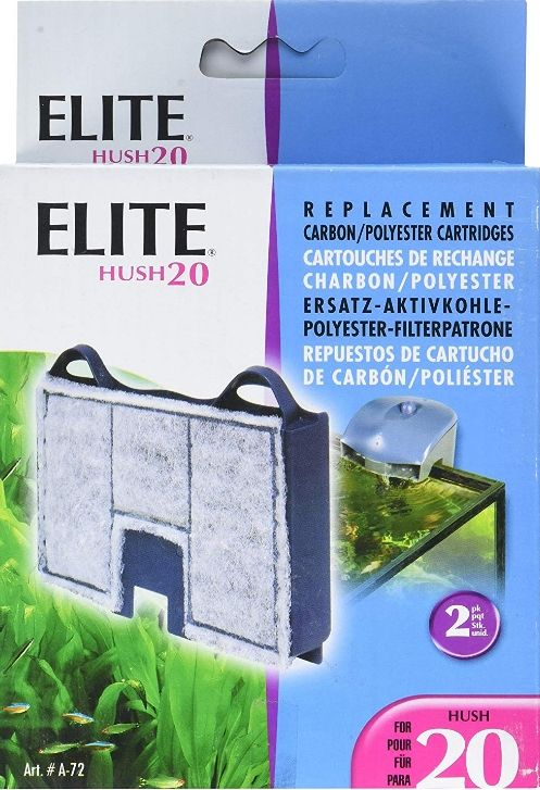 Elite Hush 20 Replacement Carbon / Polyester Cartridges