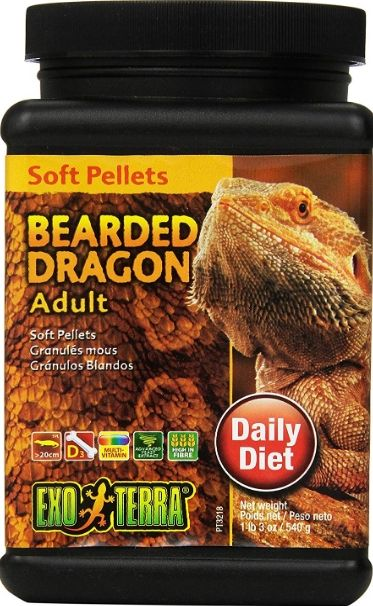 Exo Terra Soft Pellets Adult Bearded Dragon Food