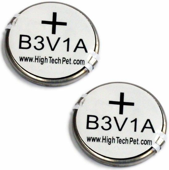 High Tech Pet Replacement B-3V1A Battery 2-Pack for HTP Collars