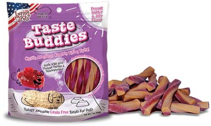 Loving Pets Peanut Butter and Jelly Taste Buddies