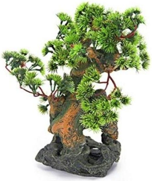 Penn Plax Bonsai Tree on Rocks Aquarium Ornament