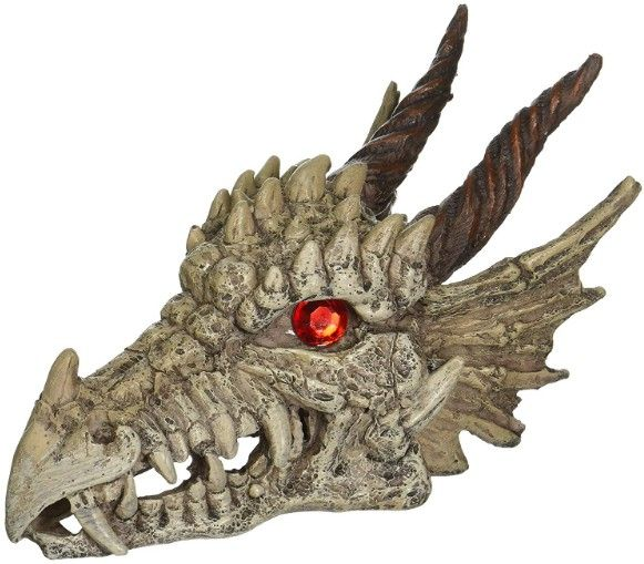 Penn Plax Gazer Dragon Skull Aquarium Ornament