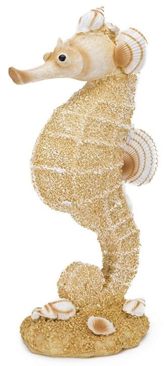 Penn Plax Sand and Shell Sea Horse Aquarium Ornament