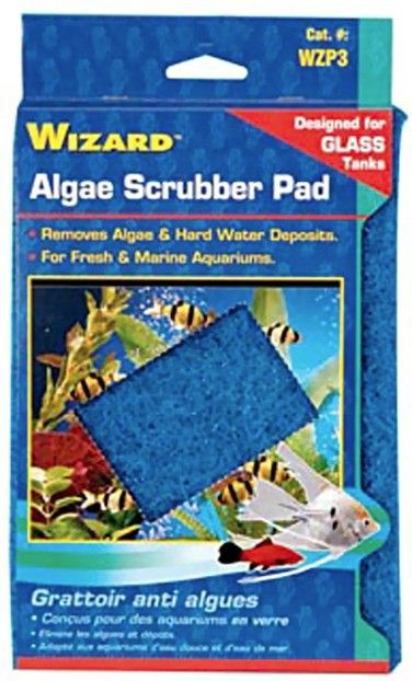 Penn Plax Wizard Algae Scrubber Pad for Glass Aquariums